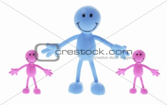 Smiley Rubber Figures