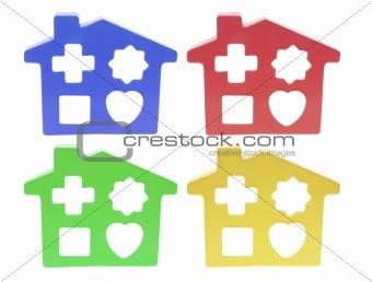 House-Shaped Template