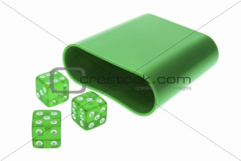 Green Translucent Dice