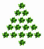 Star Bows in Xmas tree Shape