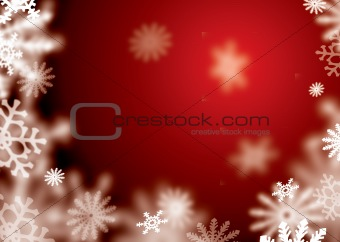 red snowflake blur