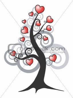 abstract love tree