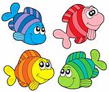 Striped fishes collection