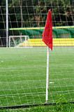 Flag on the edge of the football playground