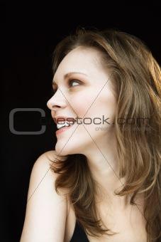 Portrait of smiling woman.