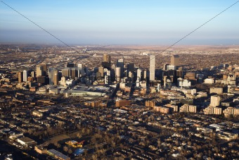 Cityscape of Denver, Colorado, USA.