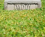 "Gravestone with ""Daddy"""