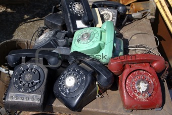 Old rotary phones.