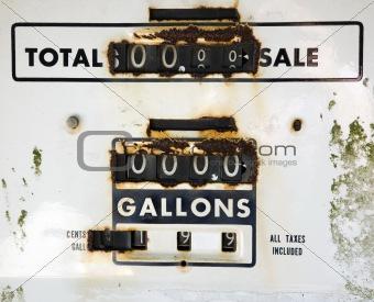 Old rusty gas meter