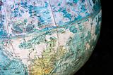 Close-up of old globe.