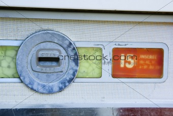 Old vending coin slot.