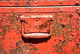 Old metal storage container.