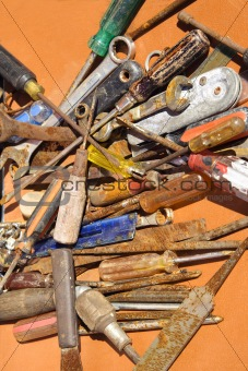 Old rusted tools