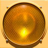 Closeup of stoplight.