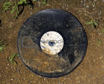 Old dirty vinyl album.
