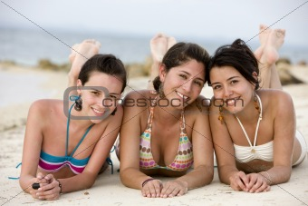 Teenage girls at the beach