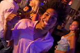 Young man dancing in a nightclub