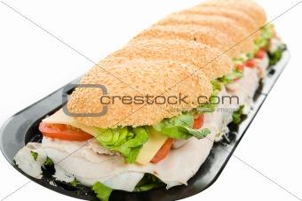 Three Foot Turkey Sandwich