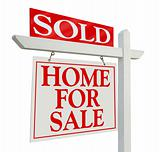 Sold Home For Sale Real Estate Sign