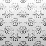 Gray antique seamless vine wallpaper
