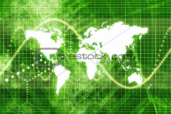 Green Stock Market World Economy
