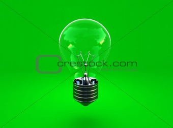 green eco light bulb background