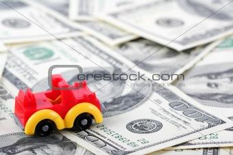 Car on dollars