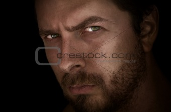 Man with mysterious eyes