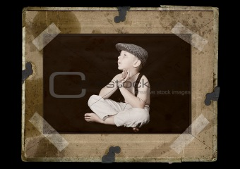 portrait of little boy - old stylized