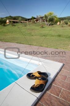 flip-flops swimming-pool