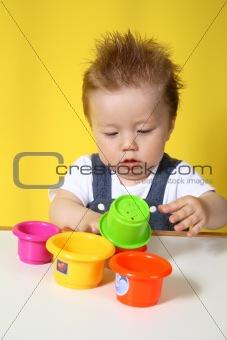 Little boy plays