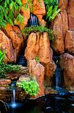 garden waterfalls,