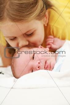 Kissing the baby