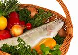 Foodbasket with fresh trout - 2