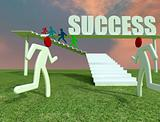 run toward the success