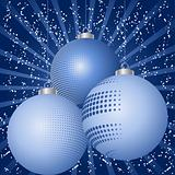 Blue bauble background