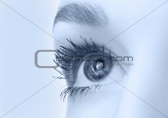 beautiful eye closeup