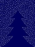 Christmas tree silhouette from snowflakes