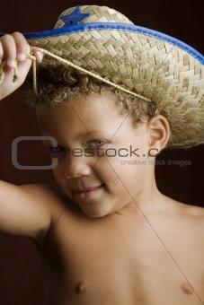 Little Boy in a Sheriff Hat