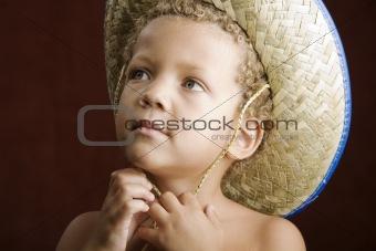 Little Boy in a Straw Hat