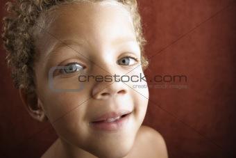 Close up of a little boy