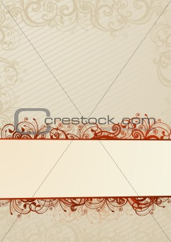 Vector light floral wallpaper with copy-space