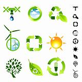 Green Living Icon Set
