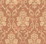 Brown Floral Pattern