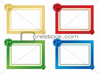 Frames with bows