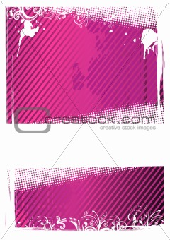 Vector illustration of pink grunge wallpaper