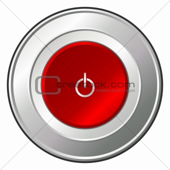 Power button over white