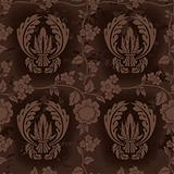 Dark Brown Floral Pattern