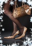 snakeskin shoes and handbag