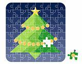 Puzzle Cristmas Tree / vector